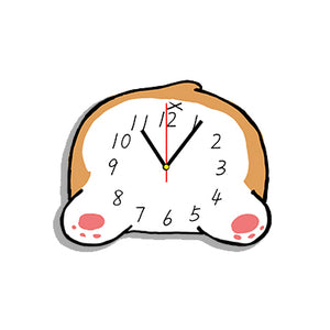 Corgi Dog Shaped Wall Clock