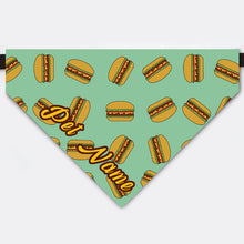 Load image into Gallery viewer, Custom Hamburger Pet Name Bandana Collar
