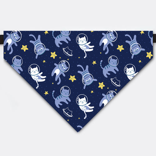 Spaceman Cat Starry Sky Pet Bandana Collar