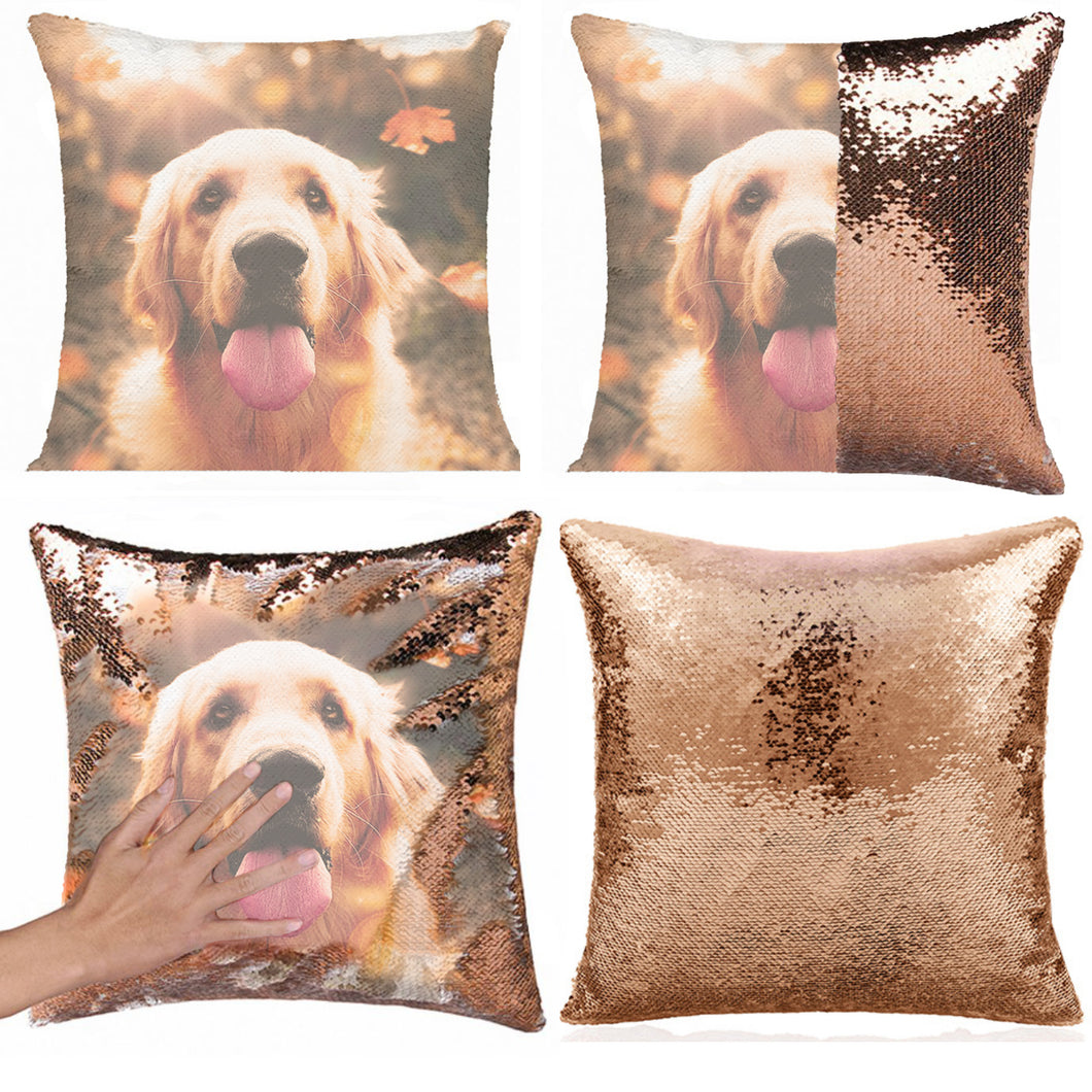 Custom Reversible Sequin Pet Pillow Case