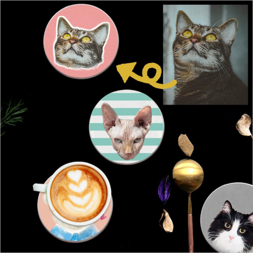 Custom Pet Coaster 6pcs