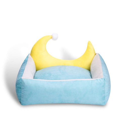 Half Moon Velvet Pet Bed