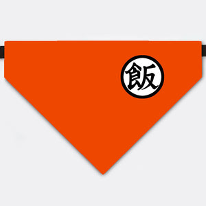 "Dragon Ball Costume Gohan's kanji ""boiled rice"" Pet Bandana Collar"