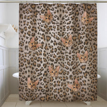Load image into Gallery viewer, Custom Pet Face Leopard Pattern Shower Curtain Match With Bengal Cat