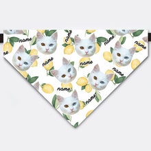 Load image into Gallery viewer, Custom Lemon Pet Face Bandana Collar
