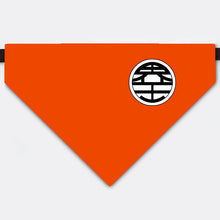 "Load image into Gallery viewer, Dragon Ball Costume Son Goku's kanji ""world king"" Pet Bandana Collar"