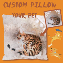 Load image into Gallery viewer, Custom Pet Watercolor Portrait Pillow