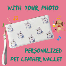 Load image into Gallery viewer, Custom Pet Wallet,Women's Long Leather Wallet
