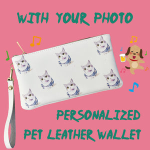 Custom Pet Wallet,Women's Long Leather Wallet
