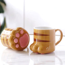 Load image into Gallery viewer, Cat Foot Shaped Cat Paw Ceramic Mug