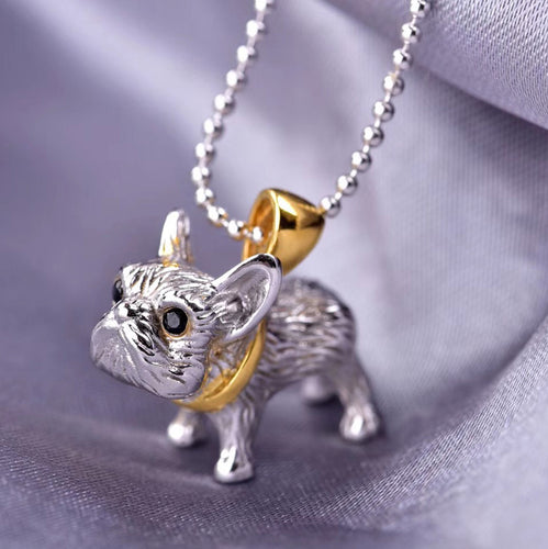 Frech Bulldog Pendant / Pug Necklace