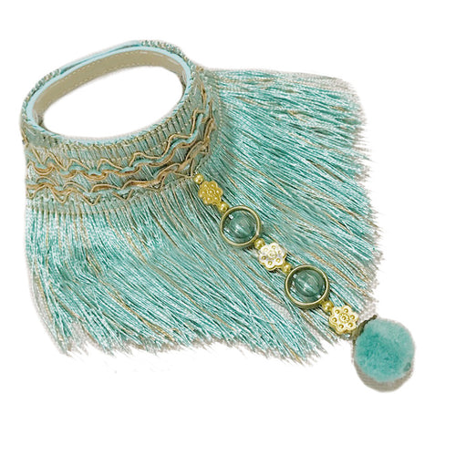 Boho Pet Collar with Tassel Trim