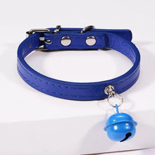 Load image into Gallery viewer, Leather Pet Collar With Bell