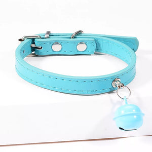 Leather Pet Collar With Bell