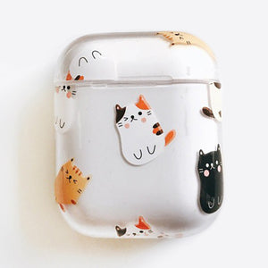 Clear Cat Airpods Case