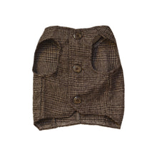 Load image into Gallery viewer, Plaid Brown Tweed Vest Lapel Tuxedo Suit Waistcoat