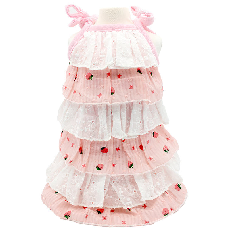 Strawberry Dress For Cat & Dog