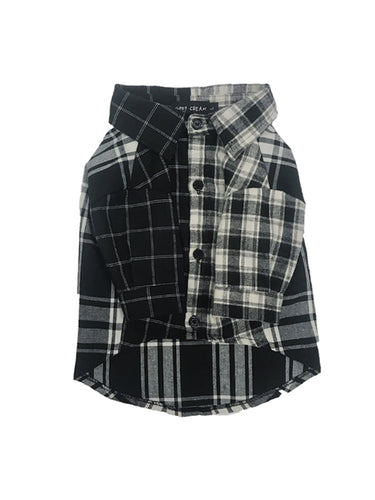 Black & Gray Plaid Shirt