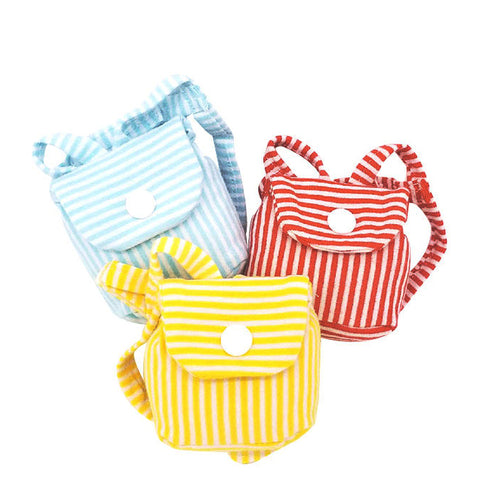 Mini Stripe Backpack For Small Pet