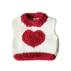 Heart Sweater For Small Pets