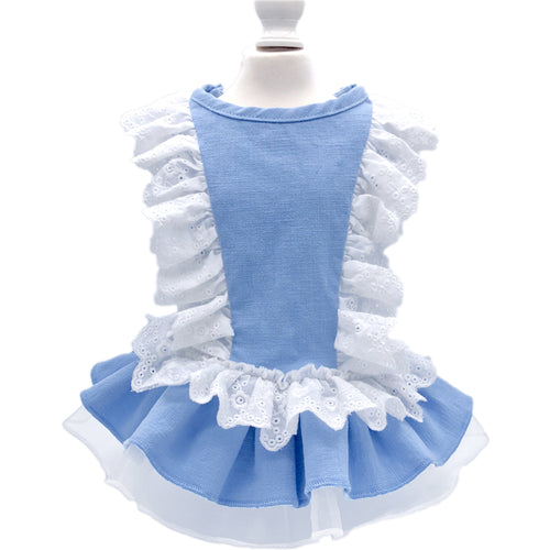 Lace Blue Dress For Cat & Dog