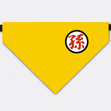 "Load image into Gallery viewer, Dragon Ball Costume Goku's family kanji ""descendant"" Pet Bandana Collar"