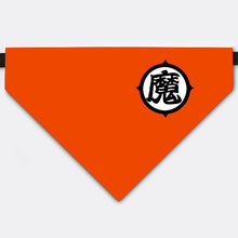 "Load image into Gallery viewer, Dragon Ball Costume Son Gohan's kanji ""demon"" Pet Bandana Collar"