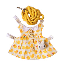 Load image into Gallery viewer, Cute Duck Hat & Dress Leash Harness Set For Small Pets