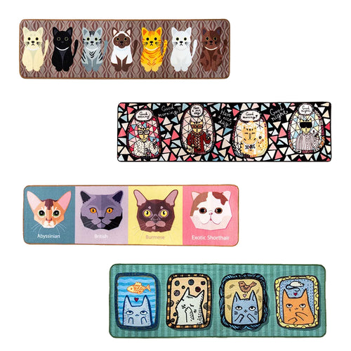 Cartoon Cat Floor Mat For Bedroom