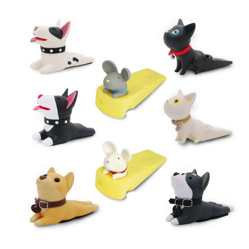 Cartoon Cat Dog Mouse Doorstop