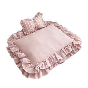 Fancy Princess Lace Pet Bed & Bow Pillow Set