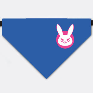 Overwatch D.va Bunny Pet Bandana Collar