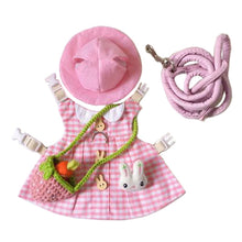 Load image into Gallery viewer, Pink Plaid Hat & Dress Leash Harness Set For Small Pets