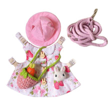 Load image into Gallery viewer, Strawberry Hat & Dress Leash Harness Set For Small Pets