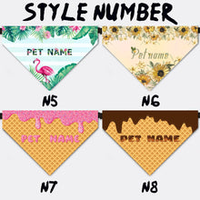 Load image into Gallery viewer, Custom Pet Bandana Collar