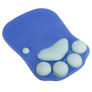Cat Paw Mouse Pad Wrist Support Soft Gel