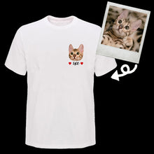 Load image into Gallery viewer, Custom Pet Face T Shirt