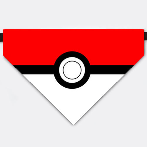 Pokemon Ball Costume Pet Bandana Collar