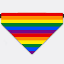 Load image into Gallery viewer, Rainbow Pet Bandana Collar For Celebrate LGBTQ Pride