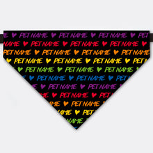 Load image into Gallery viewer, Custom Rainbow Pet Name Bandana Collar For Celebrate LGBTQ Pride