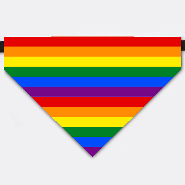Rainbow Pet Bandana Collar For Celebrate LGBTQ Pride