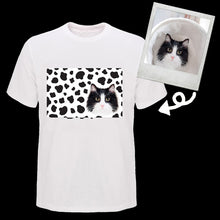 Load image into Gallery viewer, Custom tuxedo cat cow pattern T shirt