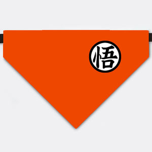 "Dragon Ball Costume Son Goku's kanji ""wisdom"" Pet Bandana Collar"