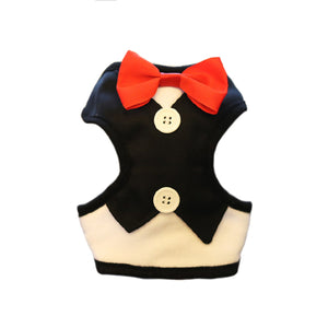 Tuxedo With Bow  & Leash For Pet
