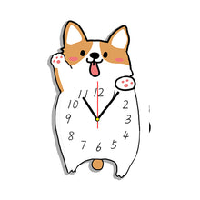 Load image into Gallery viewer, Corgi Dog Shaped Wall Clock