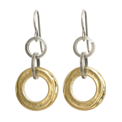 Bronze Ring Earrings