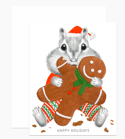 Gingerbread Chipmunk Card Box Set