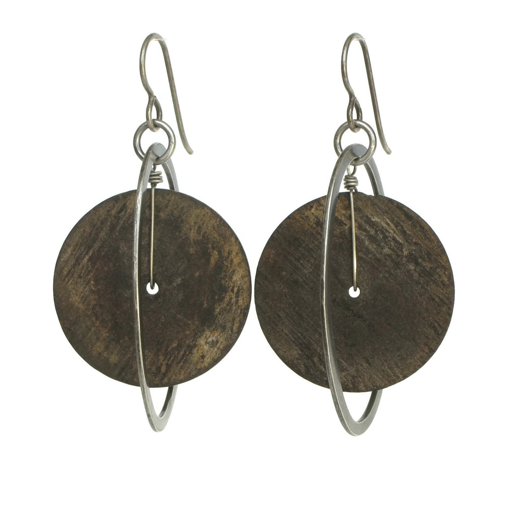 African Coconut Shell Earrings