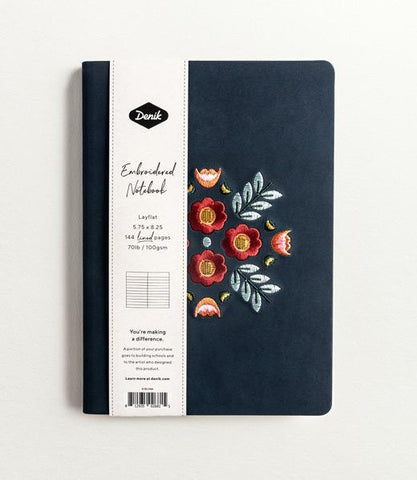 Embroidered Hardcover Notebook