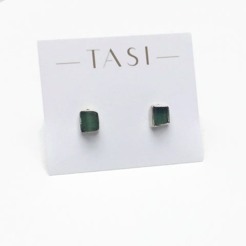 Green Tourmaline Rough Studs